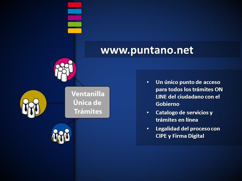 www.puntano.net Un único punto de acceso para todos los trámites ON LINE del ciudadano con el Gobierno.