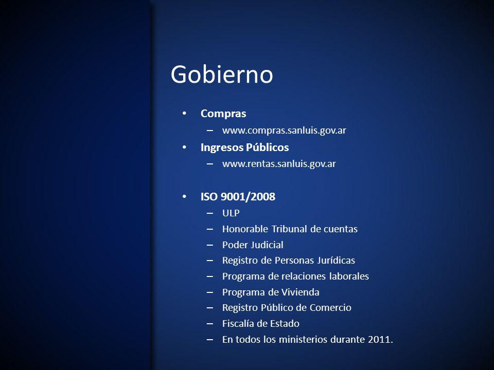 Gobierno Compras Ingresos Públicos ISO 9001/2008