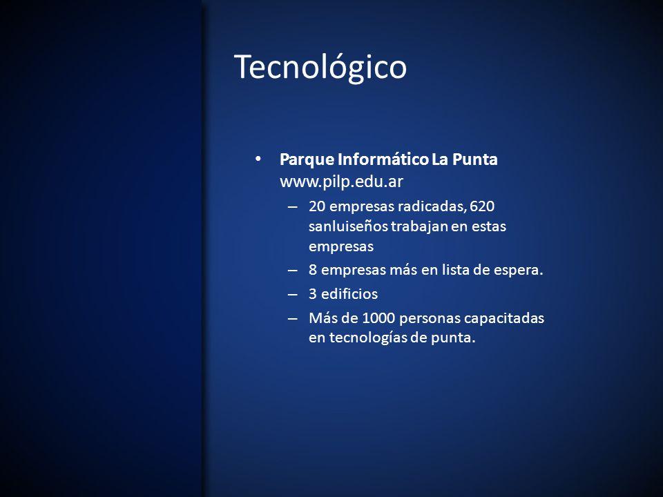Tecnológico Parque Informático La Punta www.pilp.edu.ar