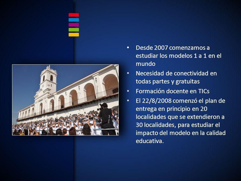 Desde 2007 comenzamos a estudiar los modelos 1 a 1 en el mundo
