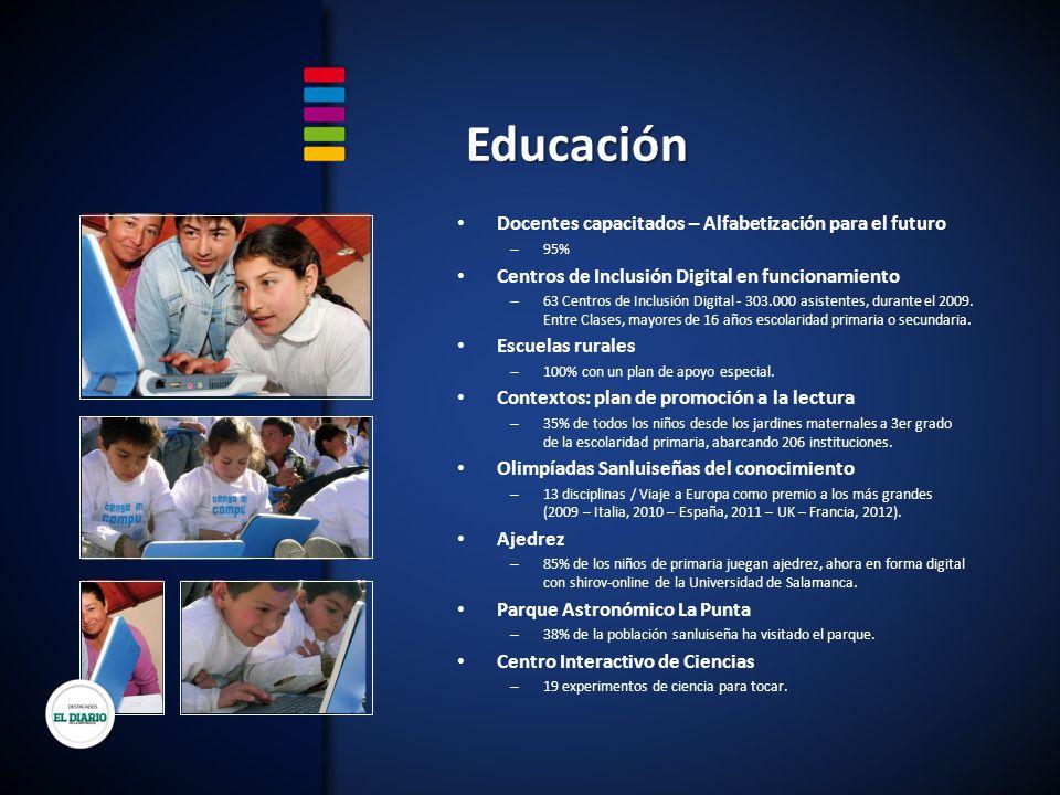 Educación Docentes capacitados – Alfabetización para el futuro