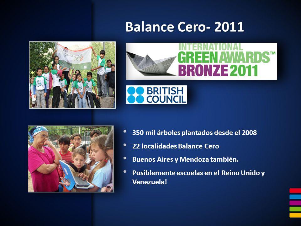 Balance Cero- 2011 350 mil árboles plantados desde el 2008