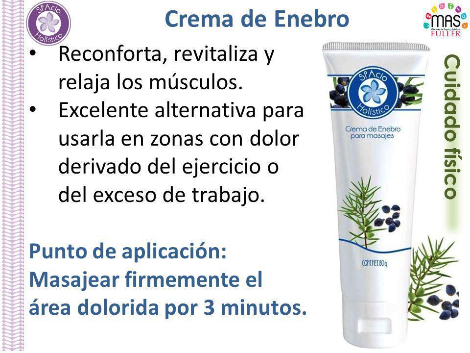 Crema de Enebro Reconforta, revitaliza y relaja los músculos.