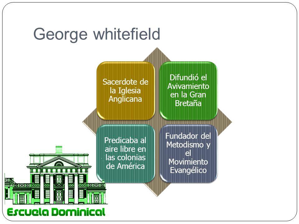George whitefield Sacerdote de la Iglesia Anglicana