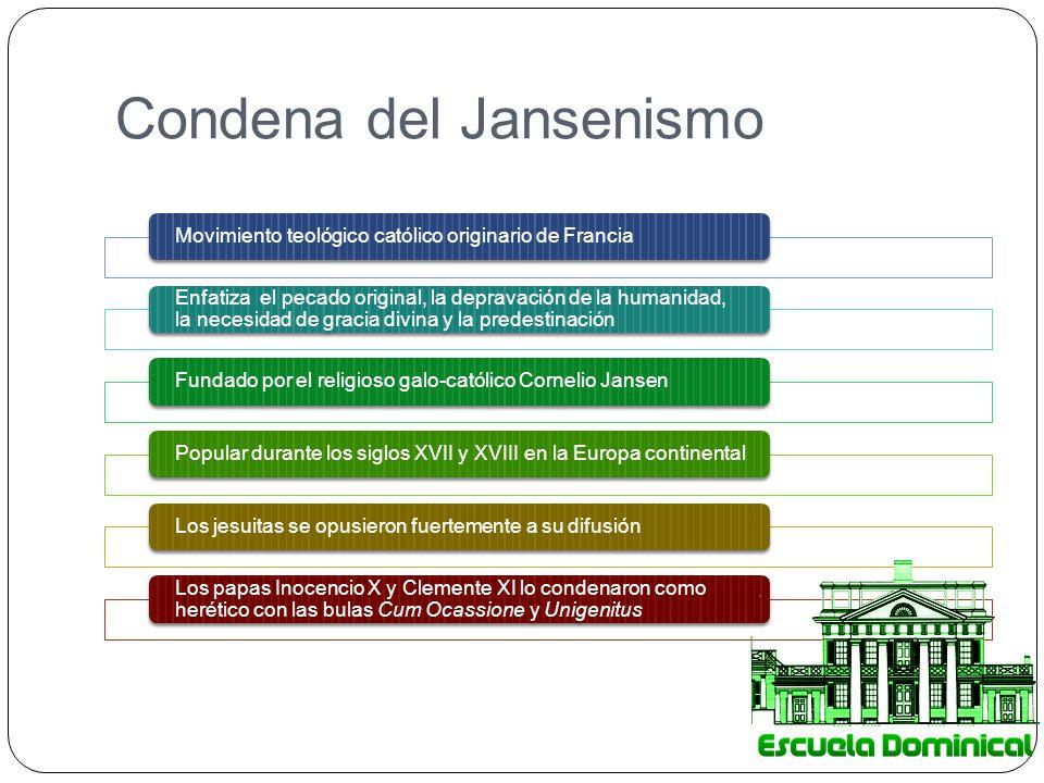 Condena del Jansenismo