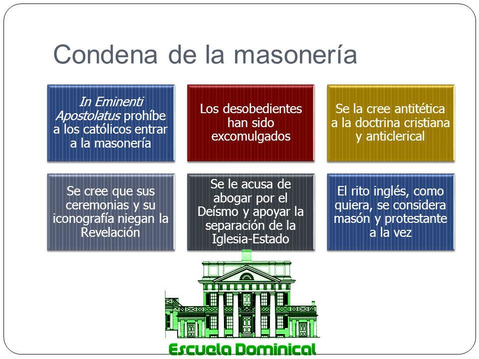 Condena de la masonería