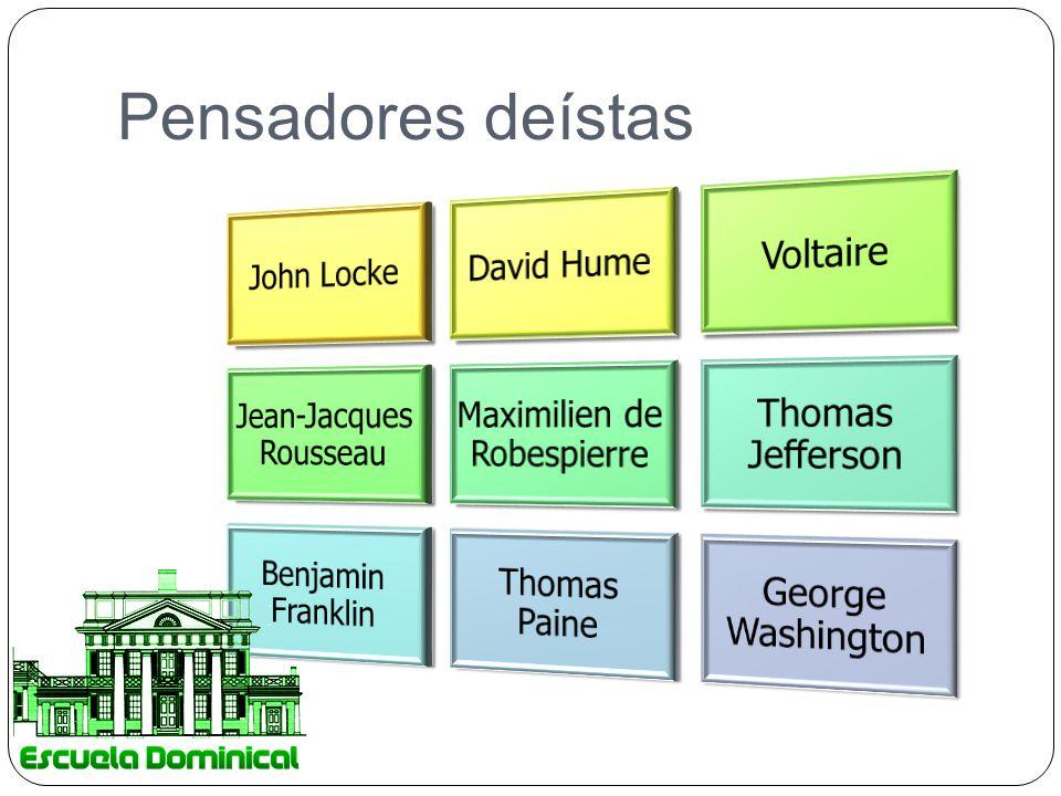 Pensadores deístas John Locke David Hume Voltaire