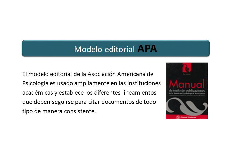 Modelo editorial APA