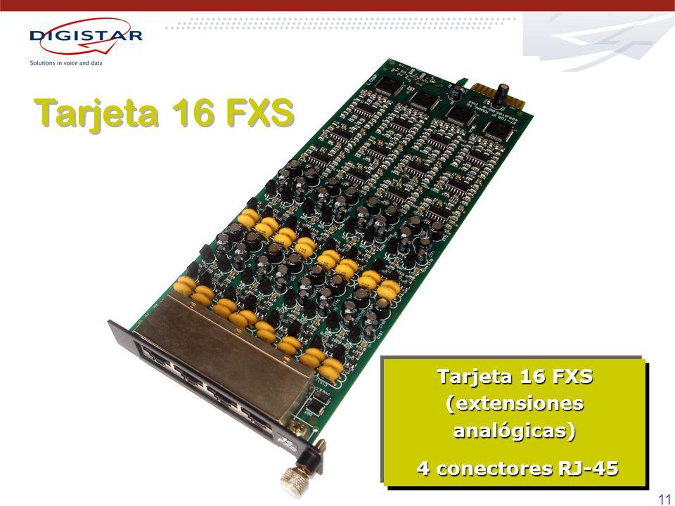 Tarjeta 16 FXS (extensiones analógicas)