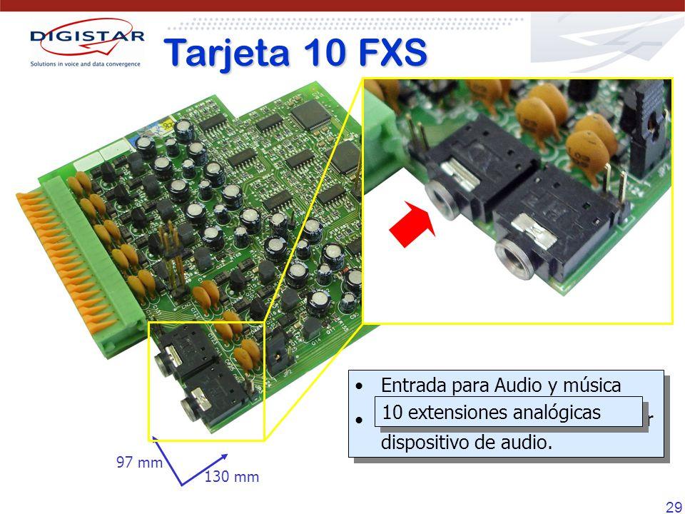 Tarjeta 10 FXS Entrada para Audio y música