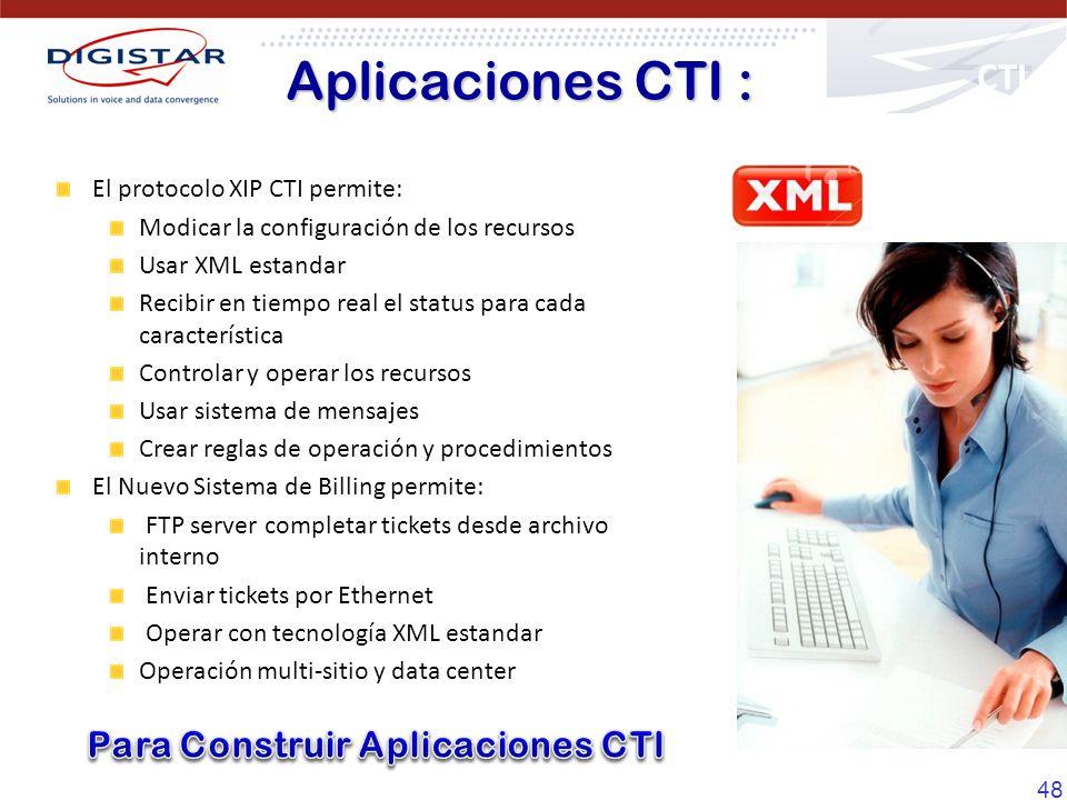 Aplicaciones CTI : CTI Para Construir Aplicaciones CTI