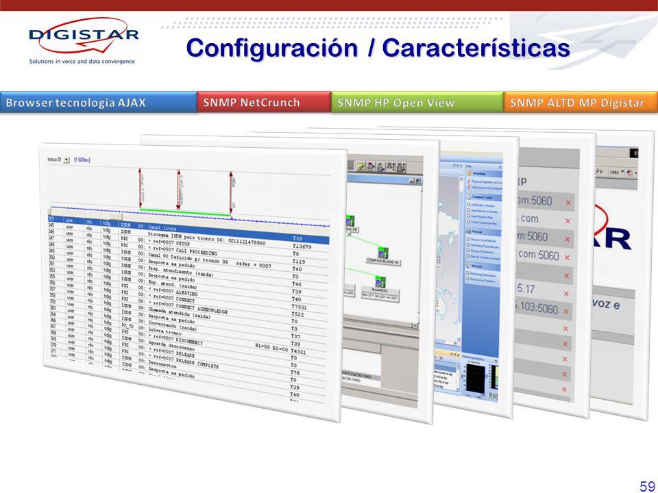 Configuración / Características