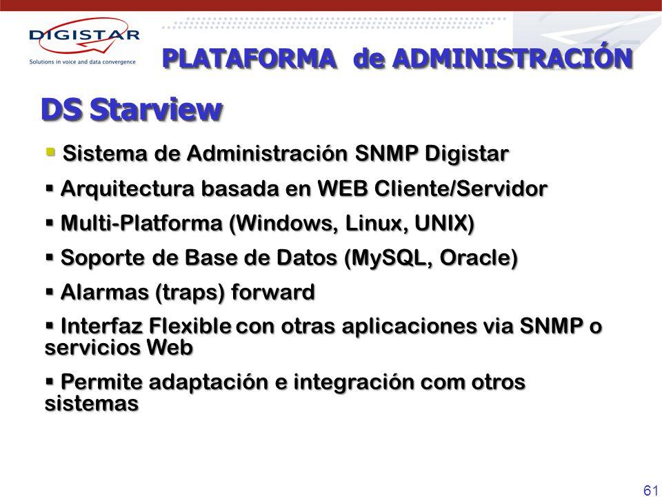 DS Starview PLATAFORMA de ADMINISTRACIÓN