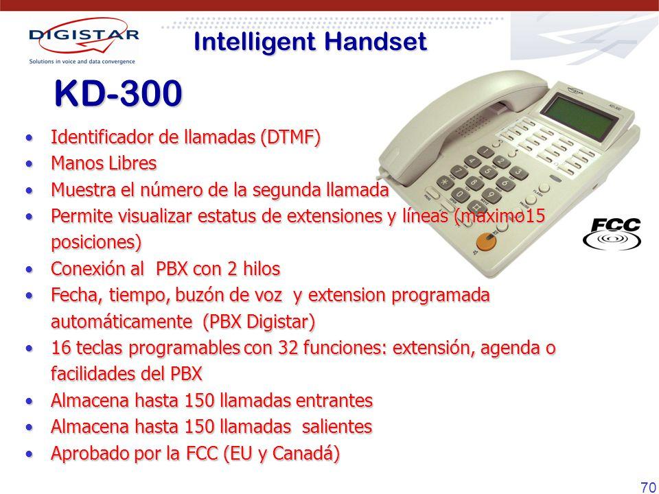 KD-300 Intelligent Handset Identificador de llamadas (DTMF)