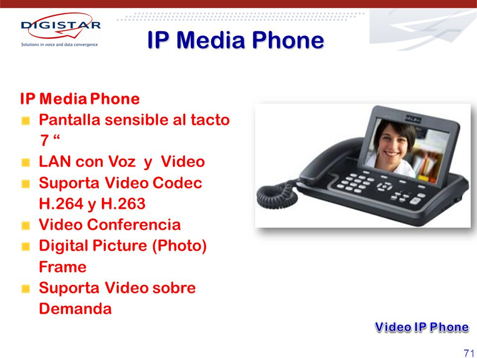 IP Media Phone IP Media Phone Pantalla sensible al tacto 7