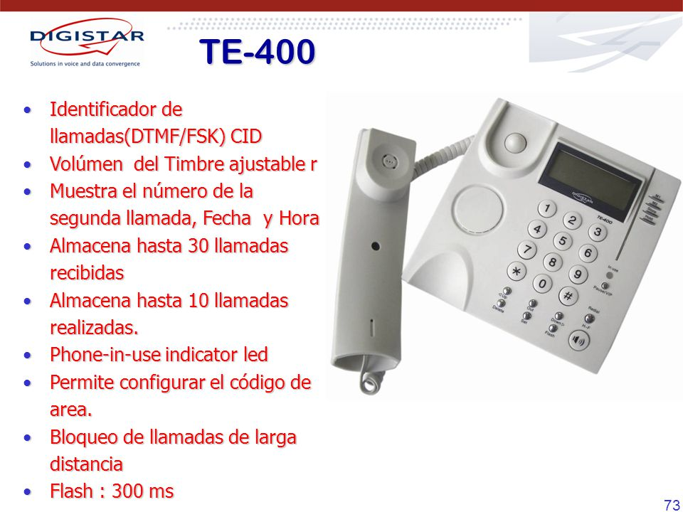 TE-400 Identificador de llamadas(DTMF/FSK) CID