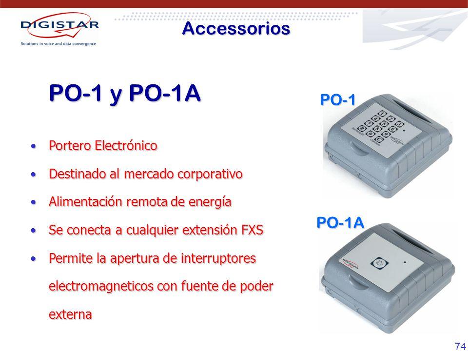 PO-1 y PO-1A Accessorios PO-1 PO-1A Portero Electrónico
