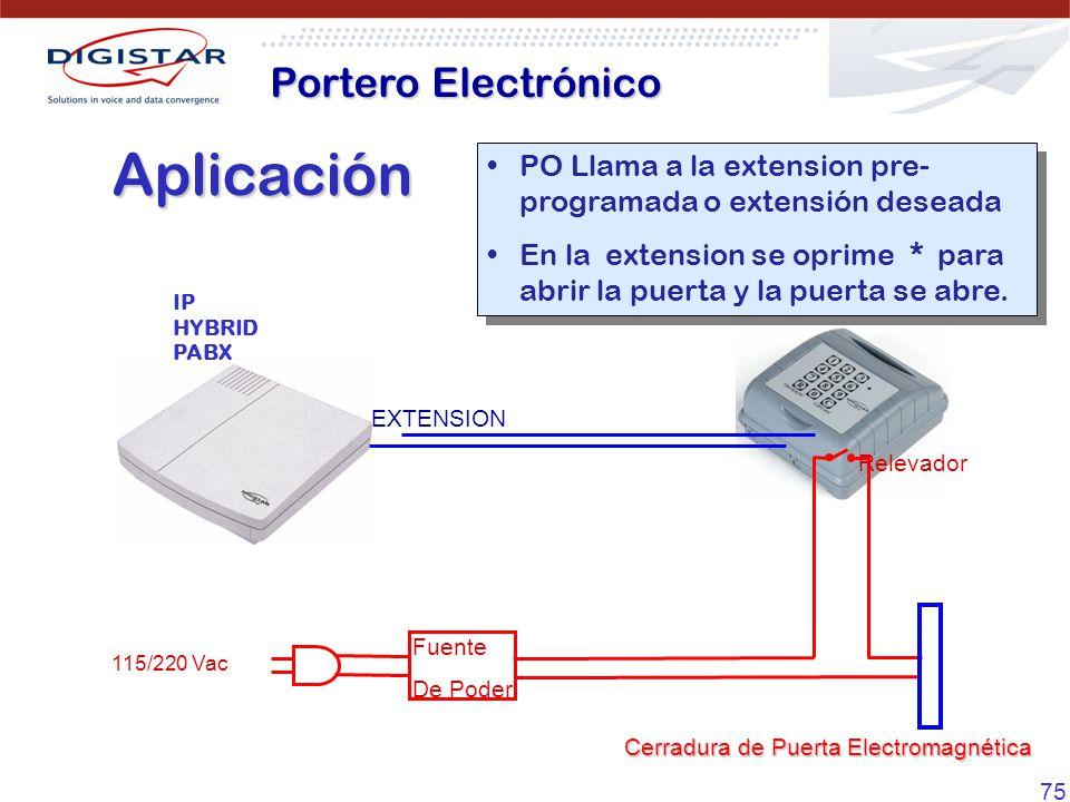 Aplicación Portero Electrónico