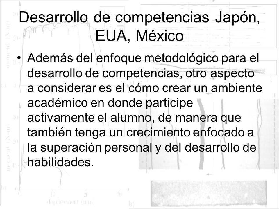 Desarrollo de competencias Japón, EUA, México