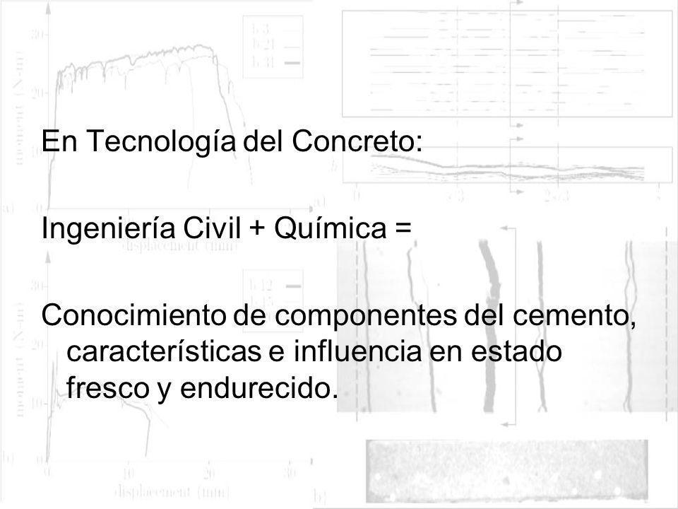 En Tecnología del Concreto: