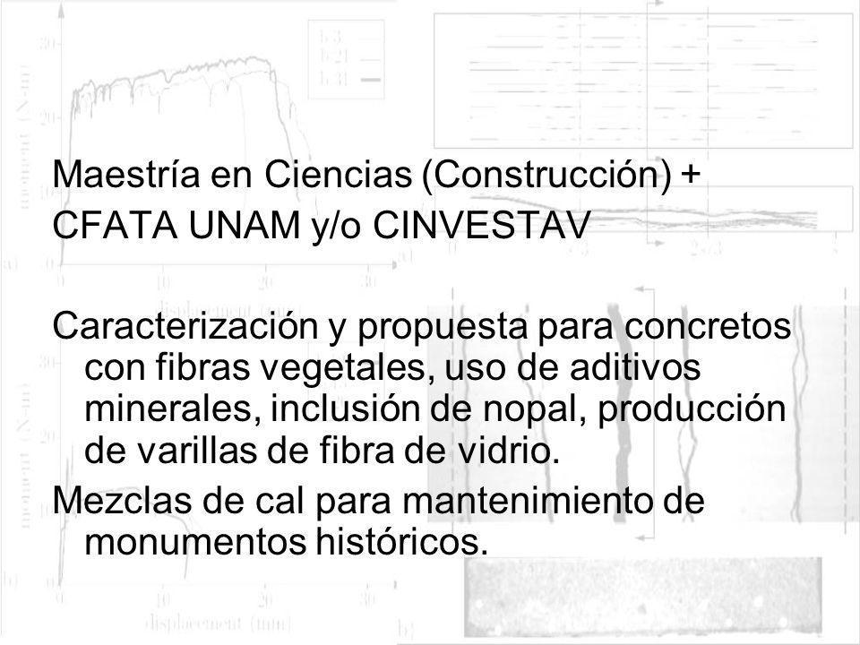 Maestría en Ciencias (Construcción) +