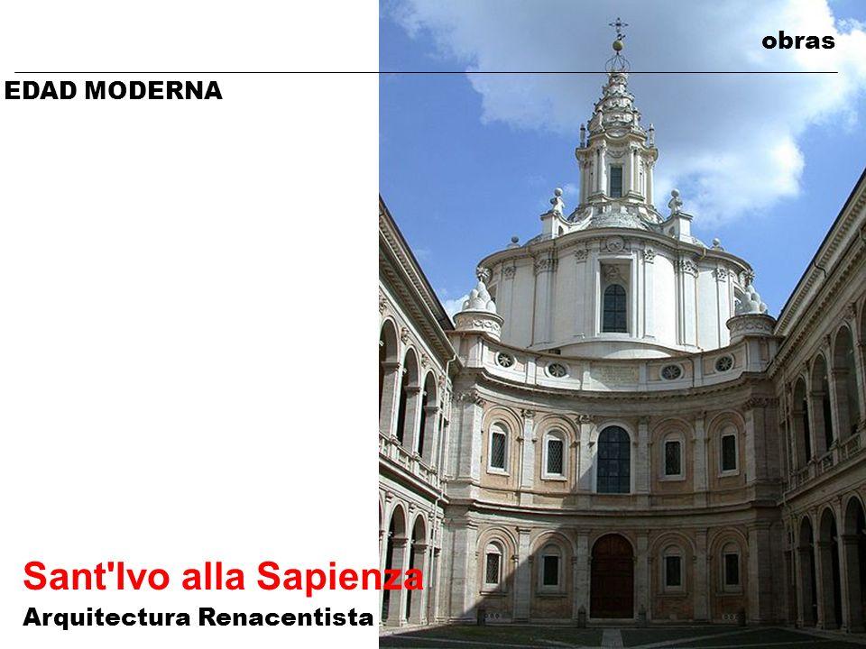obras EDAD MODERNA Sant Ivo alla Sapienza Arquitectura Renacentista