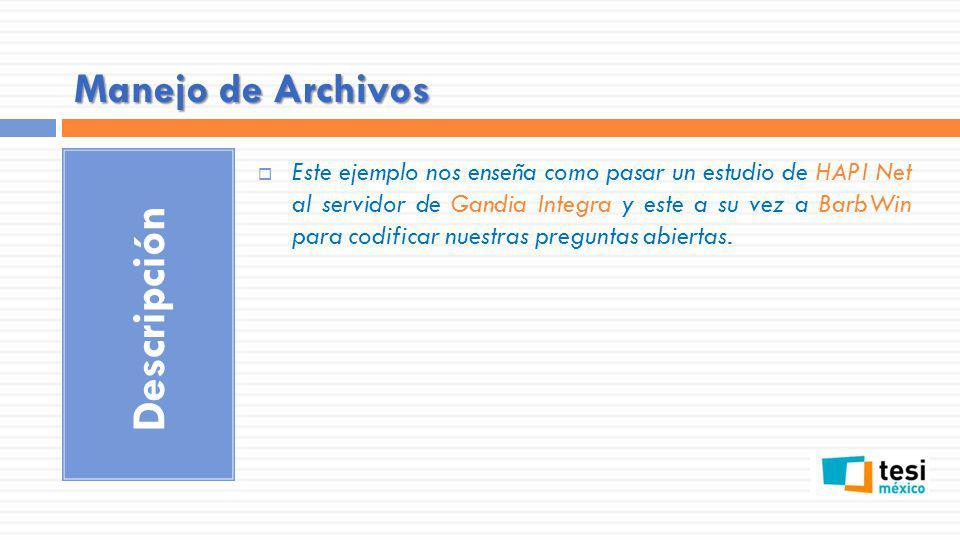 Descripción Manejo de Archivos