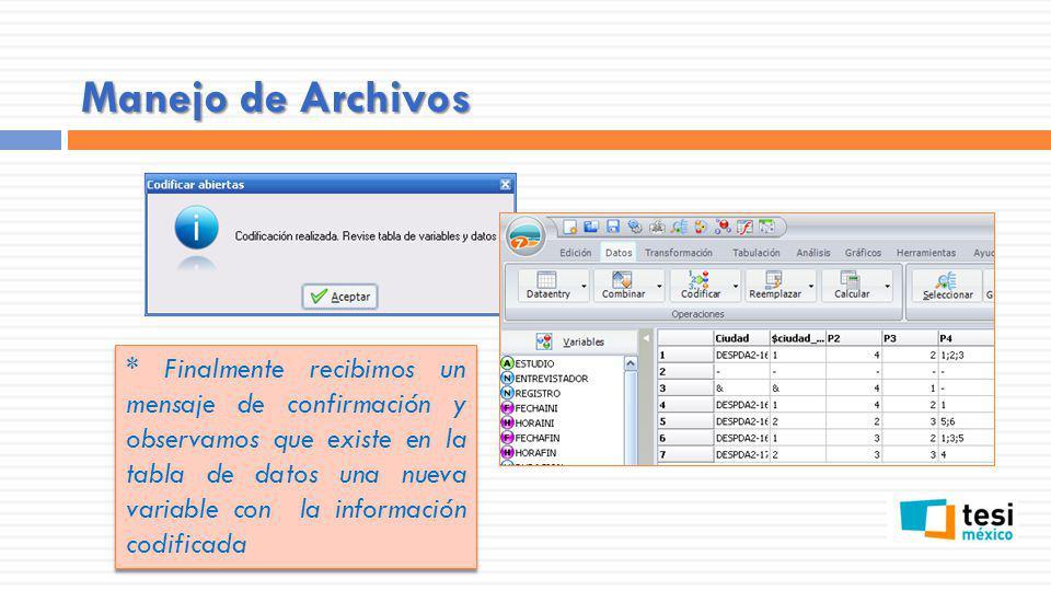 Manejo de Archivos