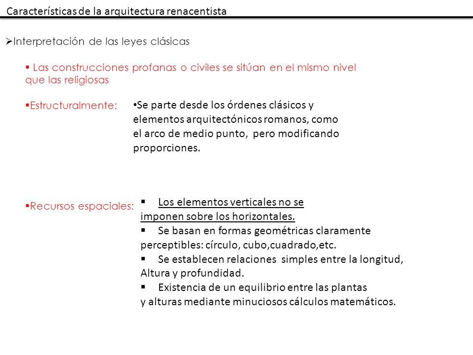 Características de la arquitectura renacentista