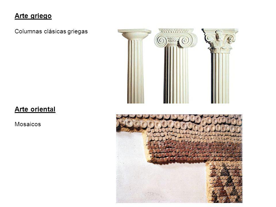 Arte griego Columnas clásicas griegas Arte oriental Mosaicos