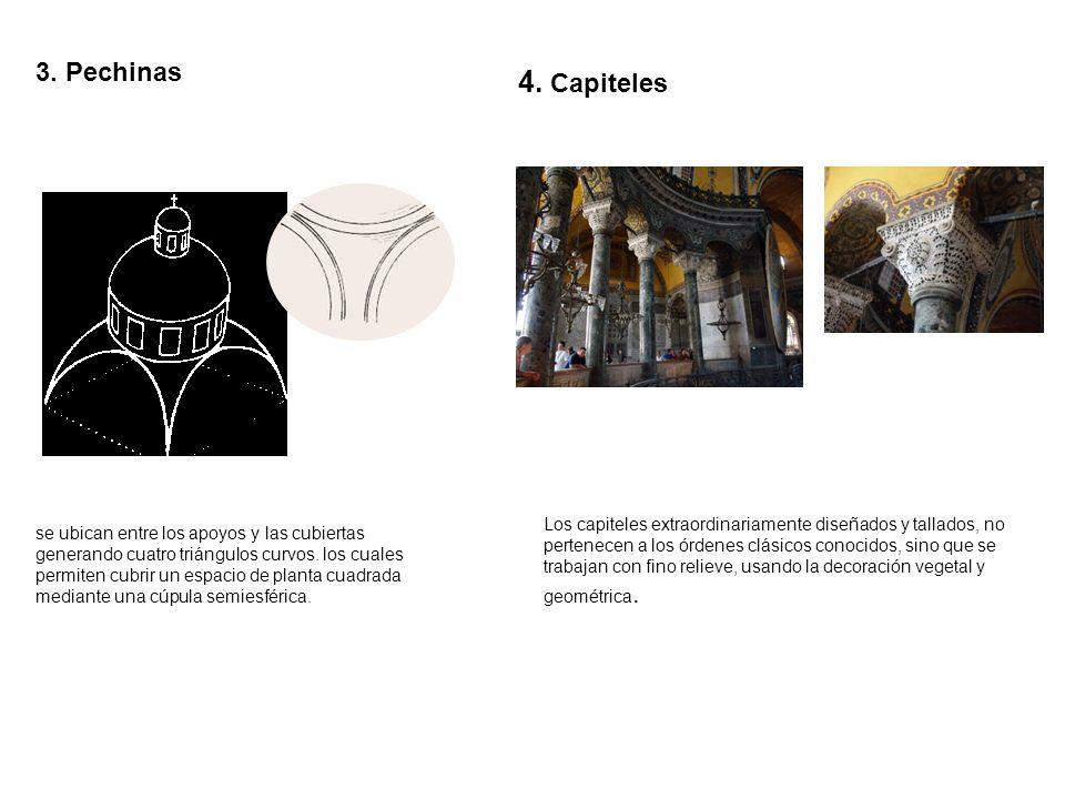 3. Pechinas4. Capiteles.