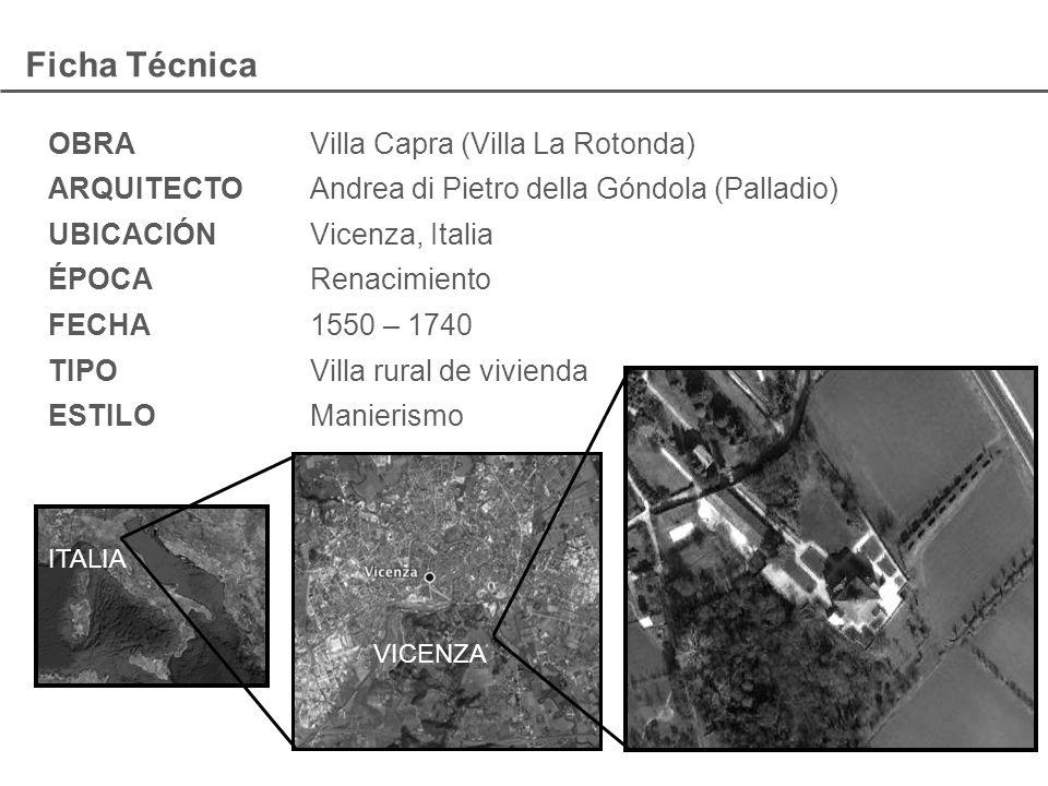 Ficha Técnica OBRA Villa Capra (Villa La Rotonda)