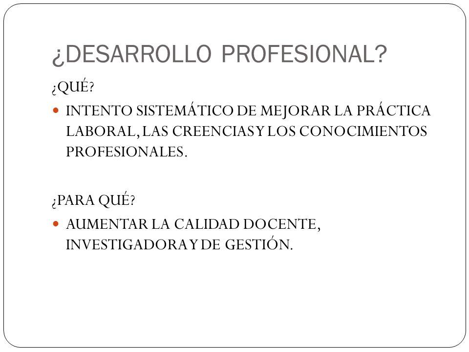 ¿DESARROLLO PROFESIONAL