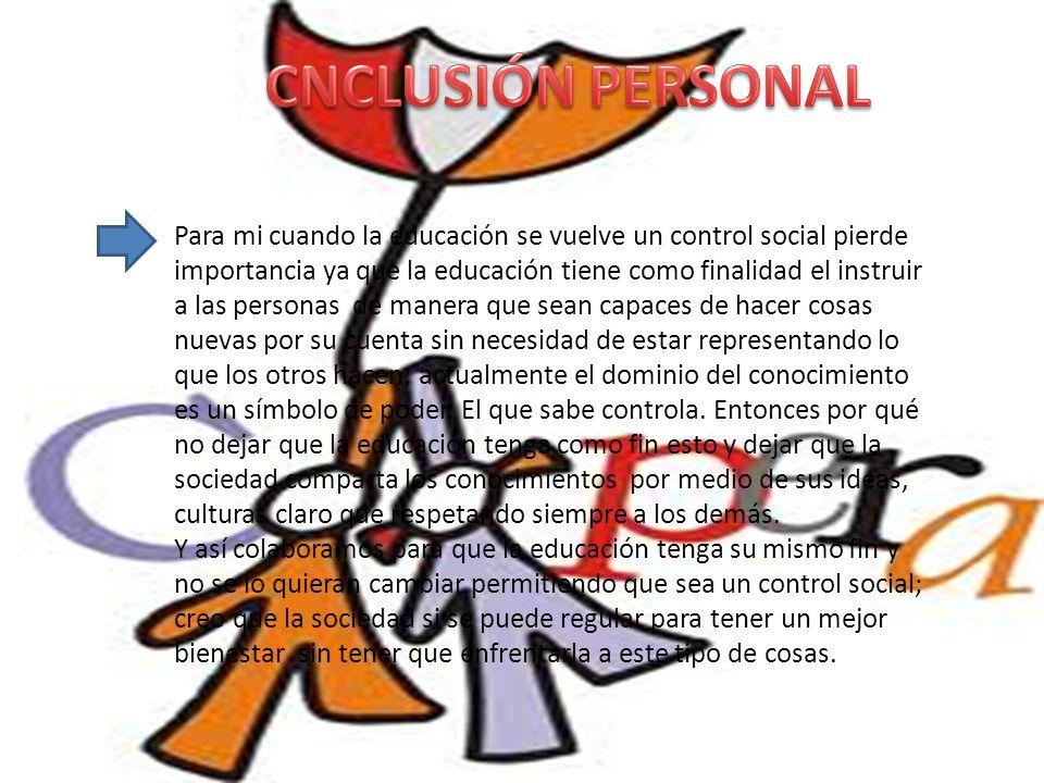 CNCLUSIÓN PERSONAL