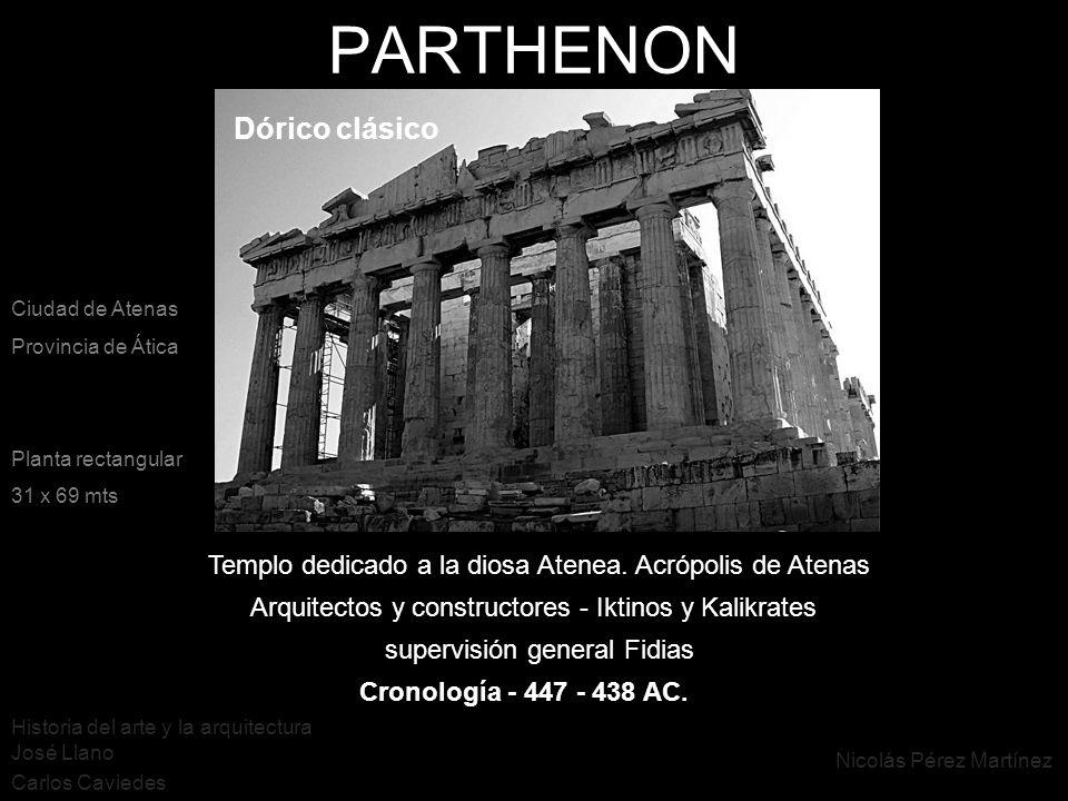 PARTHENON Dórico clásico