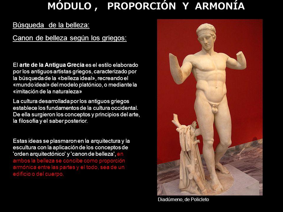 MÓDULO , PROPORCIÓN Y ARMONÍA