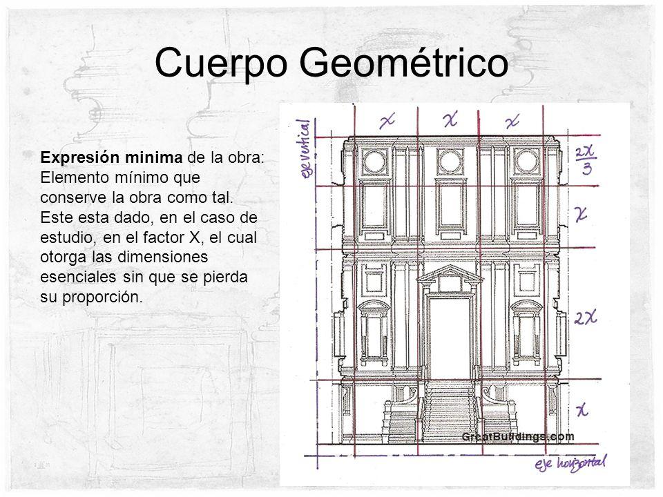 Cuerpo Geométrico Expresión minima de la obra: