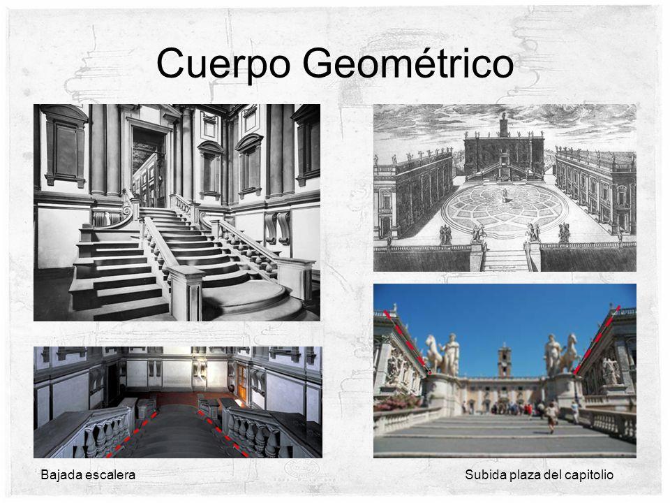 Cuerpo Geométrico Bajada escalera Subida plaza del capitolio