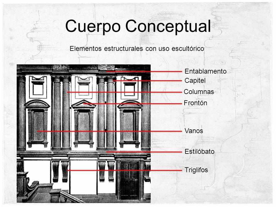 Cuerpo Conceptual Elementos estructurales con uso escultórico