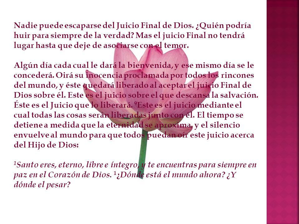 Nadie puede escaparse del Juicio Final de Dios
