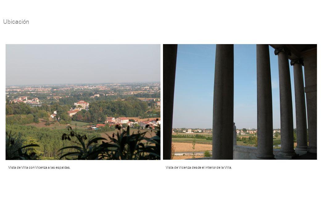Ubicación Vista de Villa con Vicenza a las espaldas.
