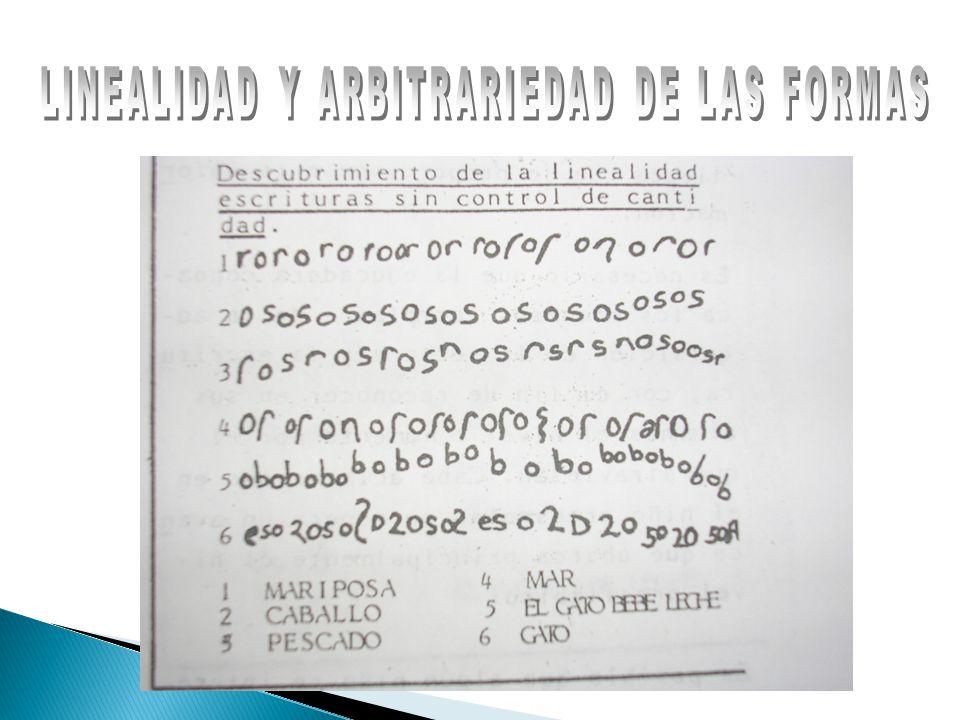 LINEALIDAD Y ARBITRARIEDAD DE LAS FORMAS
