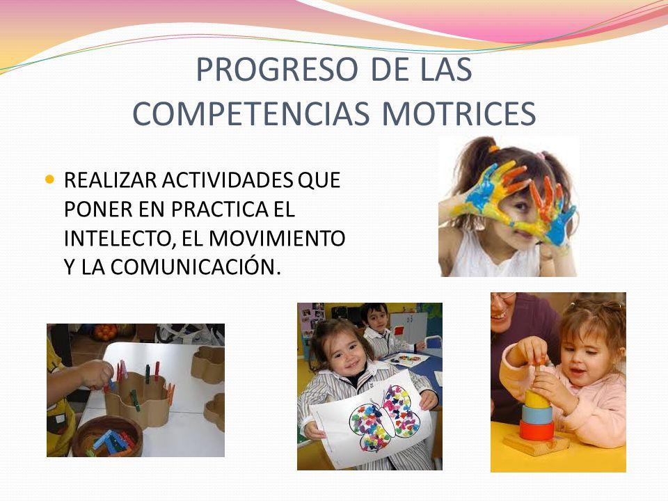PROGRESO DE LAS COMPETENCIAS MOTRICES