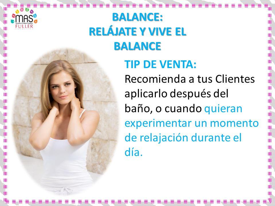 RELÁJATE Y VIVE EL BALANCE