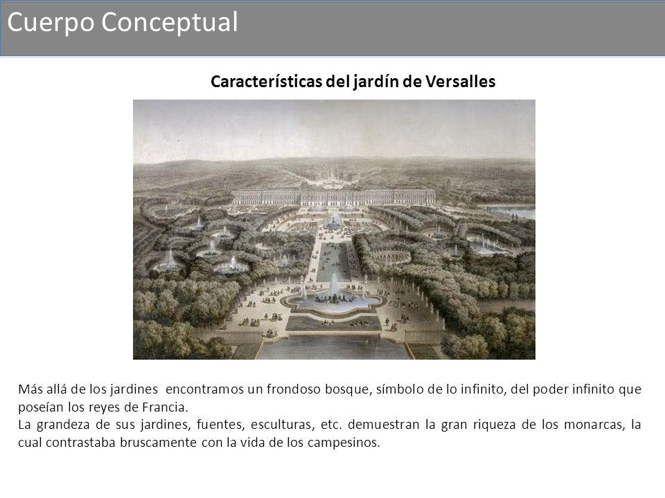 Cuerpo Conceptual Características del jardín de Versalles