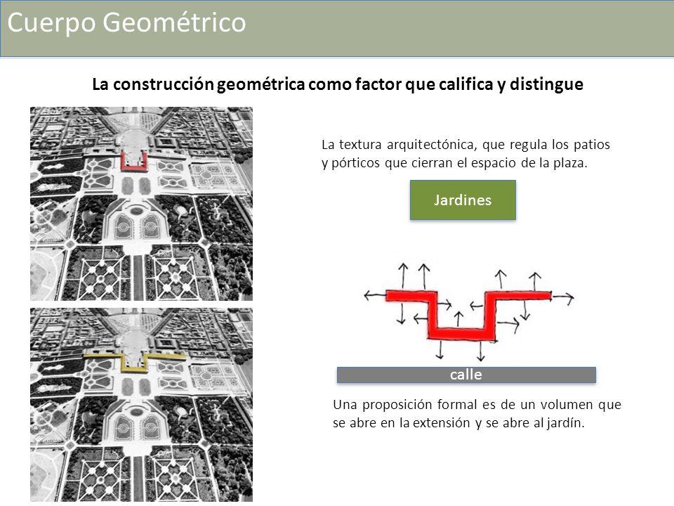 Cuerpo Geométrico La construcción geométrica como factor que califica y distingue.