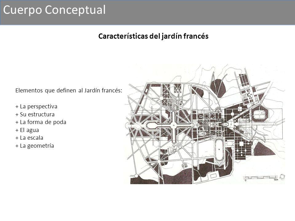 Cuerpo Conceptual Características del jardín francés