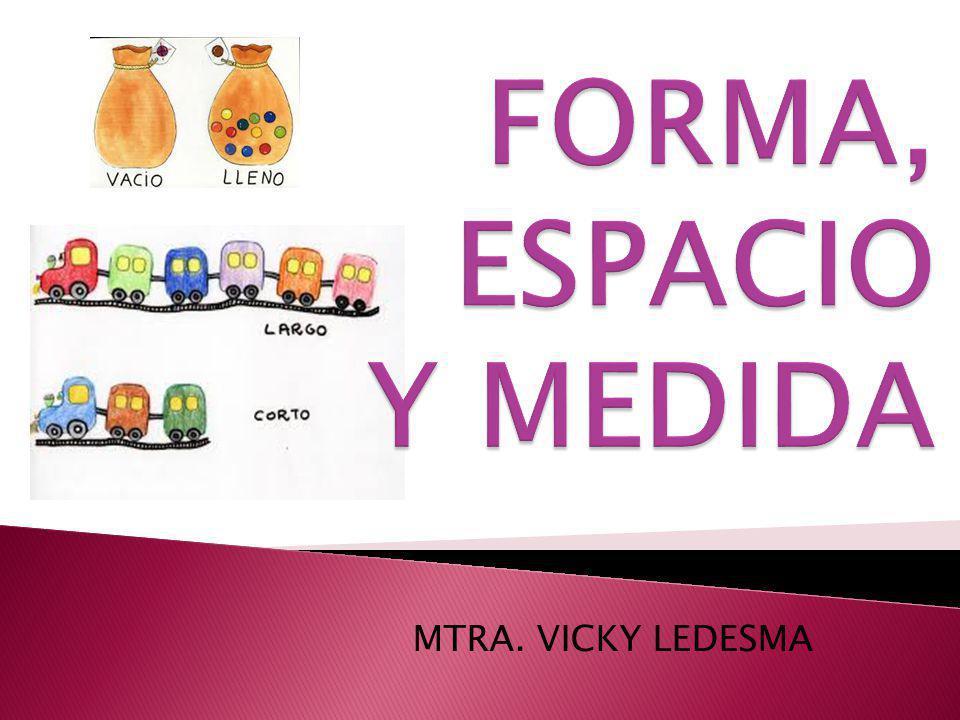 FORMA, ESPACIO Y MEDIDA MTRA. VICKY LEDESMA