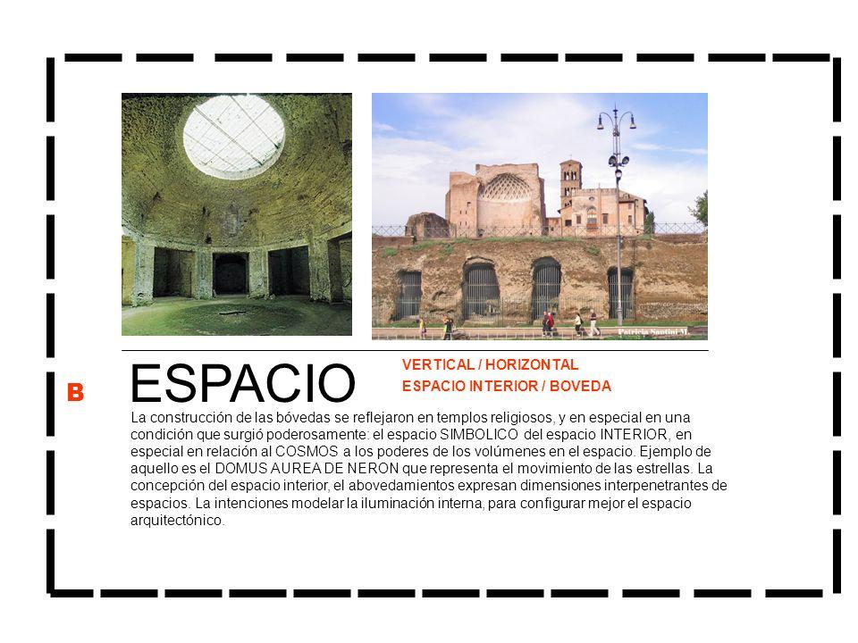 ESPACIO B VERTICAL / HORIZONTAL ESPACIO INTERIOR / BOVEDA