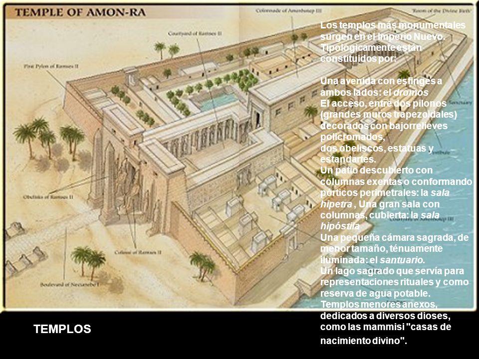 Los templos más monumentales surgen en el Imperio Nuevo